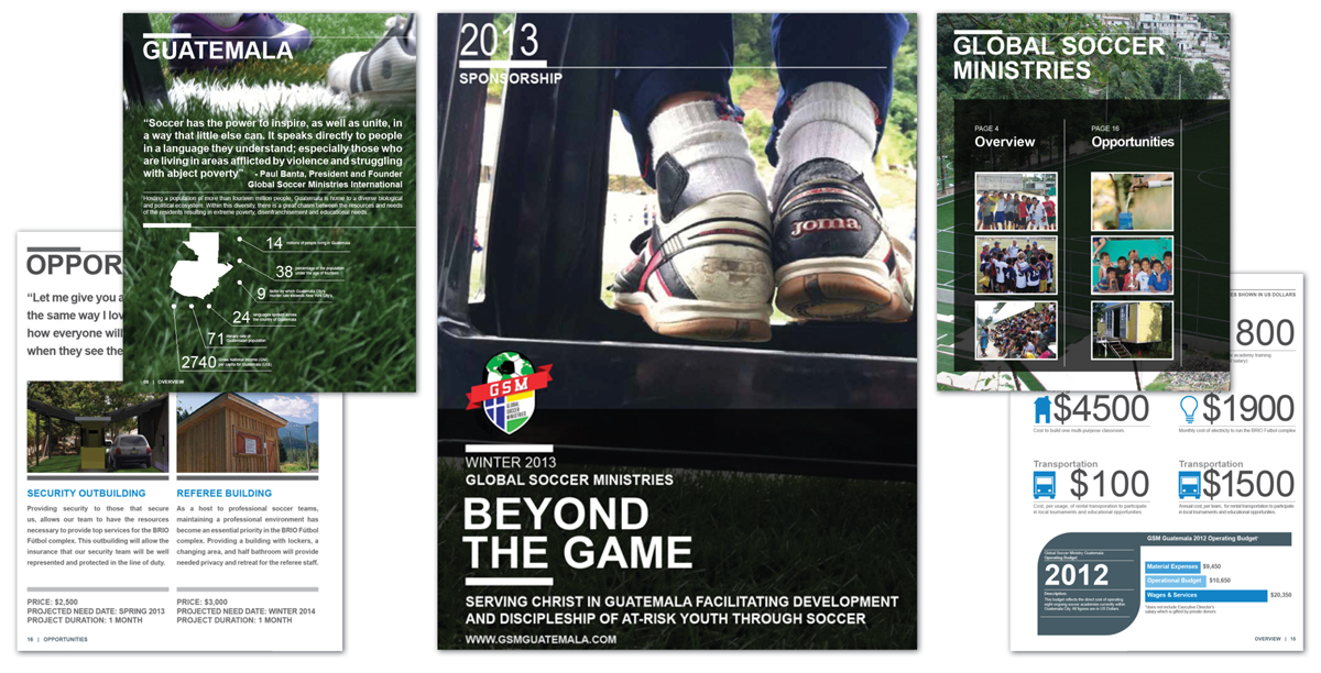 Global Soccer Ministries Guatemala 32pg Fundraising Booklet